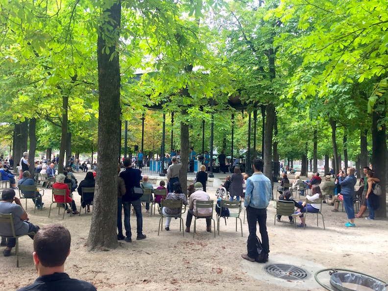 "Trees Create Welcoming ""People Places"" - Summer Concert Parisian Park"