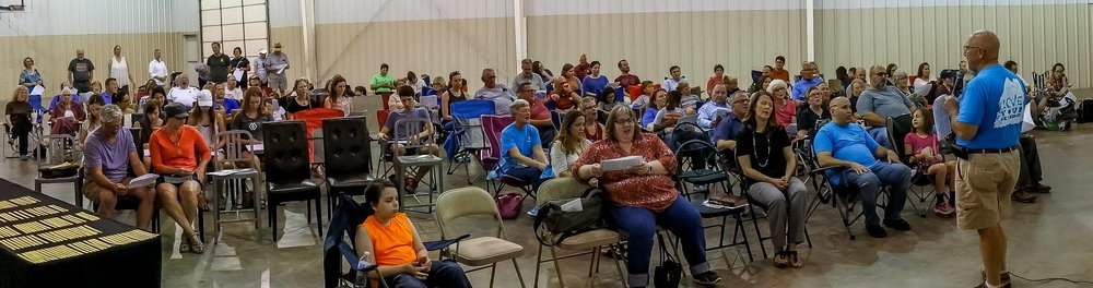 Our first all church worship in the gym at our new location on September 10, 2017!      Photo Cred: Rod Cuellar