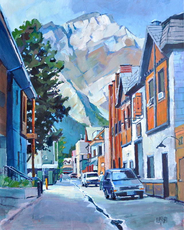 Behind Banff Avenue 16x20 Mountain Galleries, Banff AB