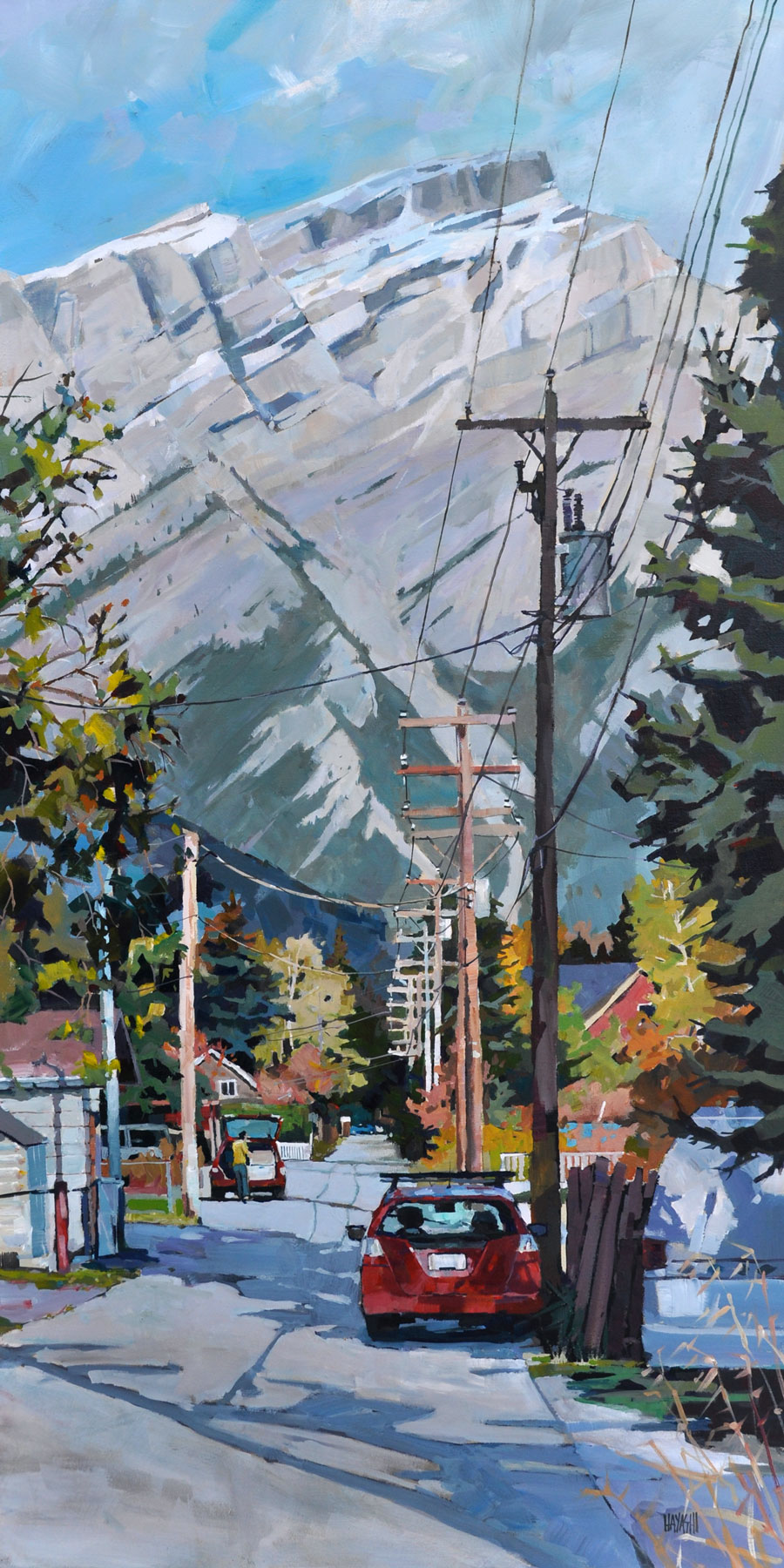 Alley Under Cascade Mountain 24x48, Mountain Galleries, Banff AB