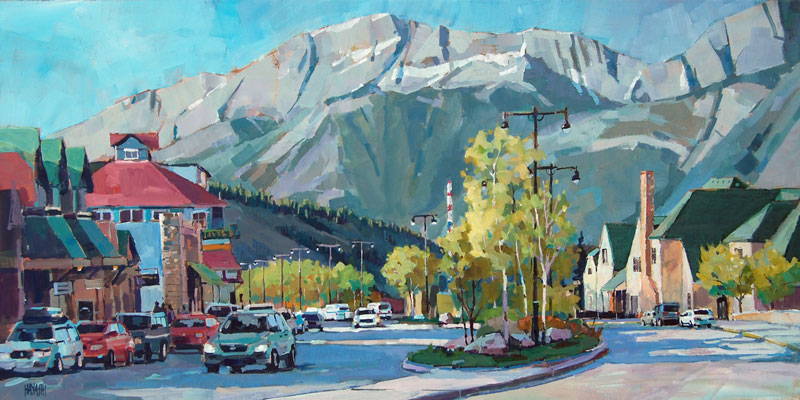 Curve on Connaught 18x36 Mountain Galleries, Jasper AB