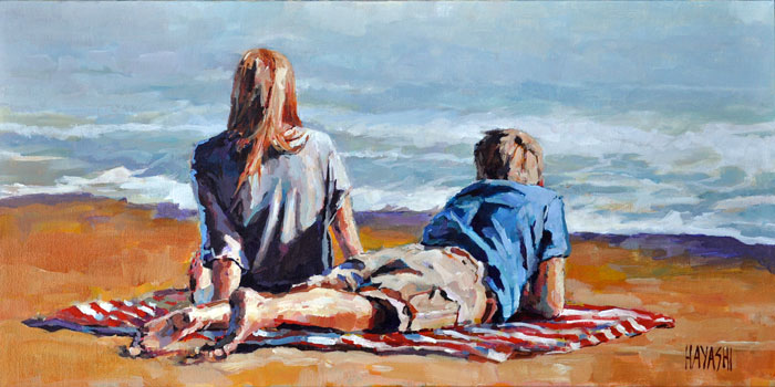 At the Beach 10x20 Matilda Swanson Gallery, Clarksburg ON