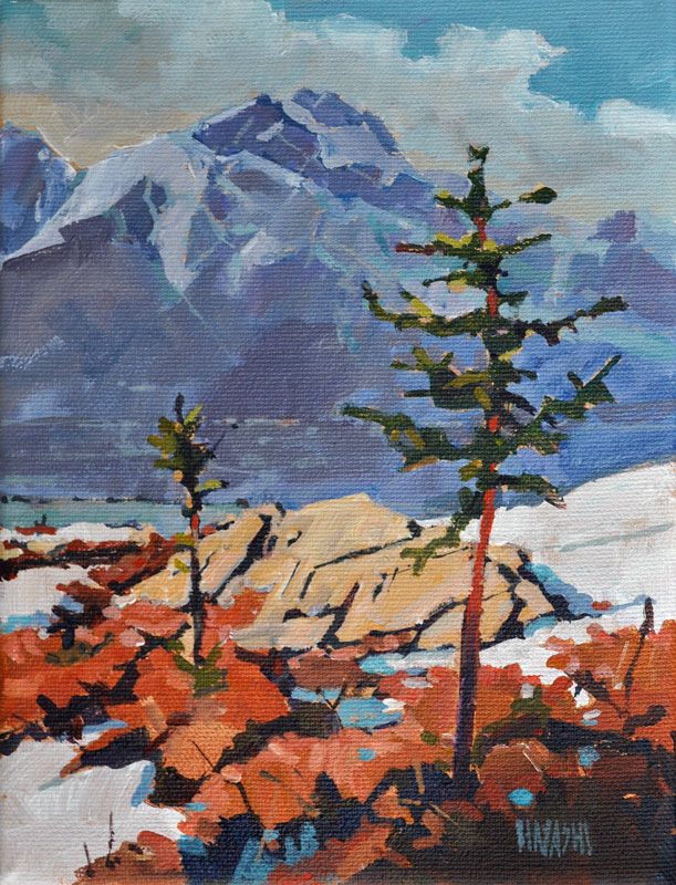 SOLD - Purple Pyramid 6x8 Mountain Galleries, Jasper AB