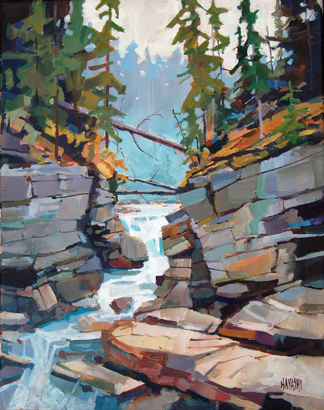 SOLD - Maligne Canyon 11x14 Mountain Galleries, Jasper AB