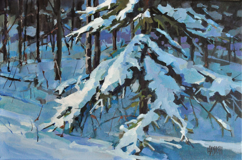 SOLD - Snow Laden 12x18 Edmonton AB