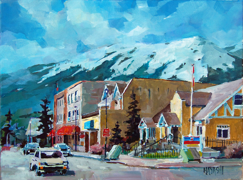 SOLD - Post-Office 12x16 Mountain Galleries, Jasper AB