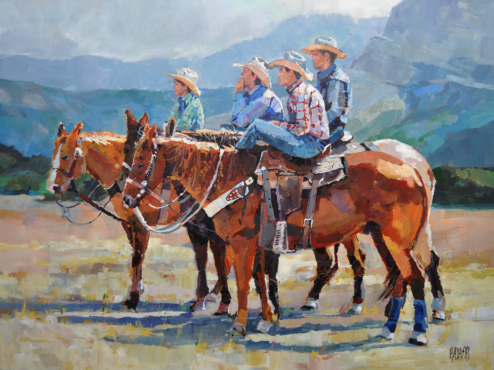 Young Cowboys 18 x 24