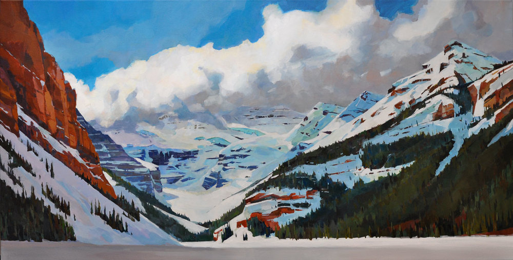 Winter Clouds over Louise 24x48