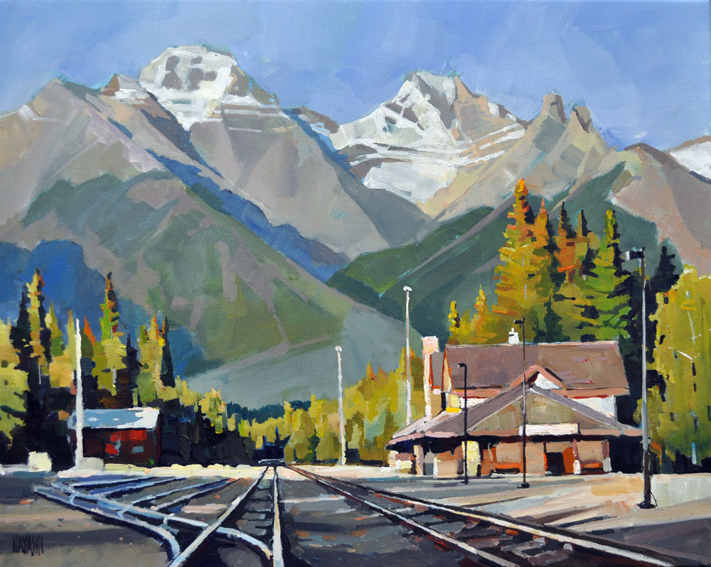 Banff Railway Station 16x20