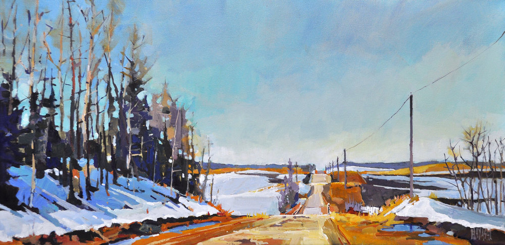Rural Road in Spring 12 x 24
