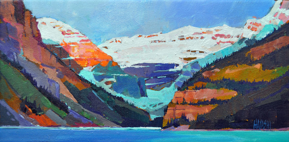 Sunrise on Victoria Glacier 6 x 12
