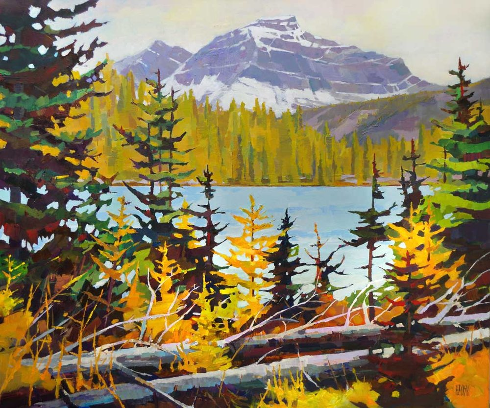 Larch on Larix Lake 30 x 36