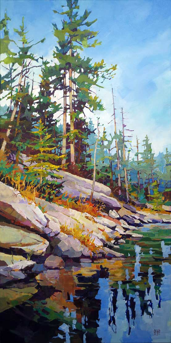 Reflected Pines 24 x 48