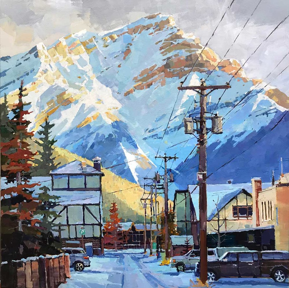 Banff Alley in Shadow 24x24