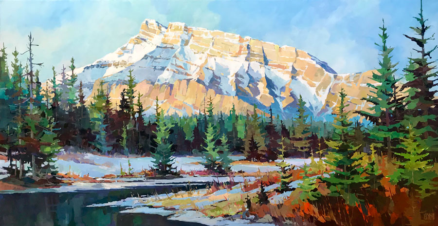 Rundle from Cascade Ponds 36 x 72