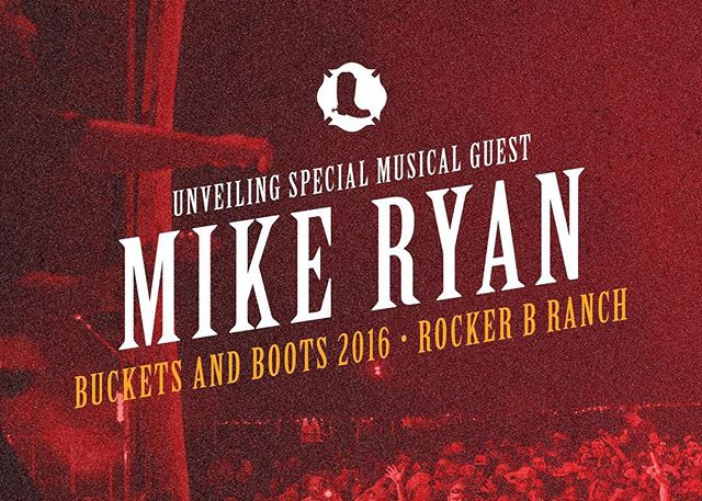 We are pleased to announce that Mike Ryan will be performing at #BucketsandBoots2016, joining Wade Bowen, Jason Boland, Jack Ingram, and Jerry Jeff Walker! Gates open at 4pm and the music starts at 5pm. Get your tickets for $25 and bucketsandboots.com [Link in bio]
