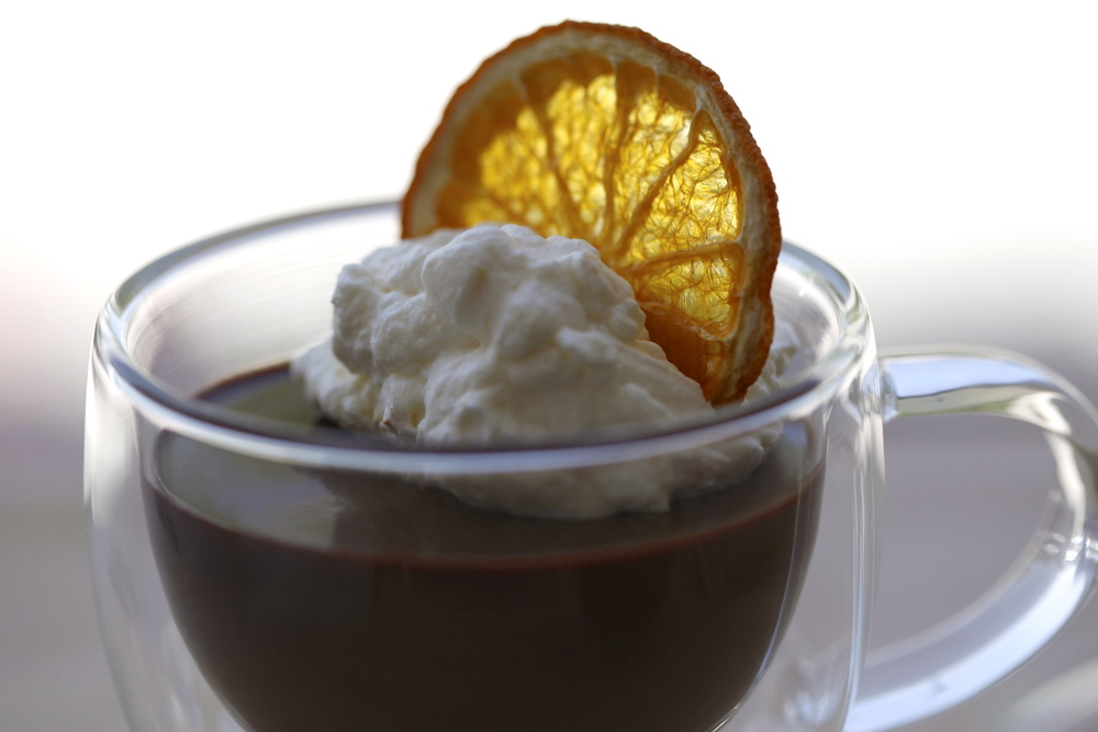 Chocolate Mousse with Orange Cloud