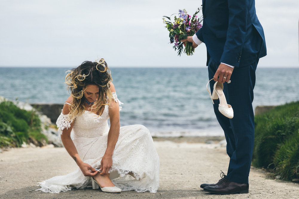 The wedding of Nick and Jem in Portholland. May 2018 - Cornwall, UK