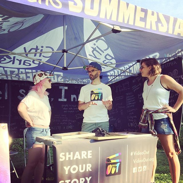 Working the @videoout booth for Summerstage with @sanferminband! 🌈 #pride #equality #lgbtq #videoout