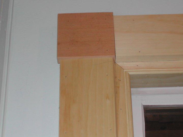 Window casing trim detail