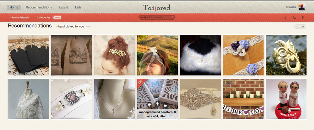 Tailored helps brides organize and plan items they will need to use during their wedding. It also helps them look for better deals and offers on products they like. Role: Built the entire backend API layer.