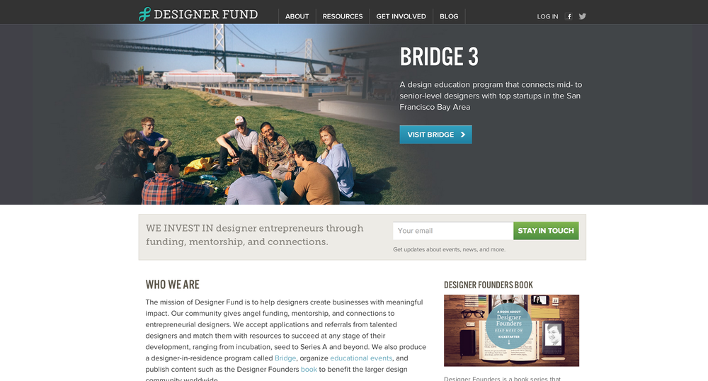 Designerfund.com - get paired up with a great design company, go to interesting design meet ups.  Role: helped with maintenance of their testing framework and deployment refactoring.