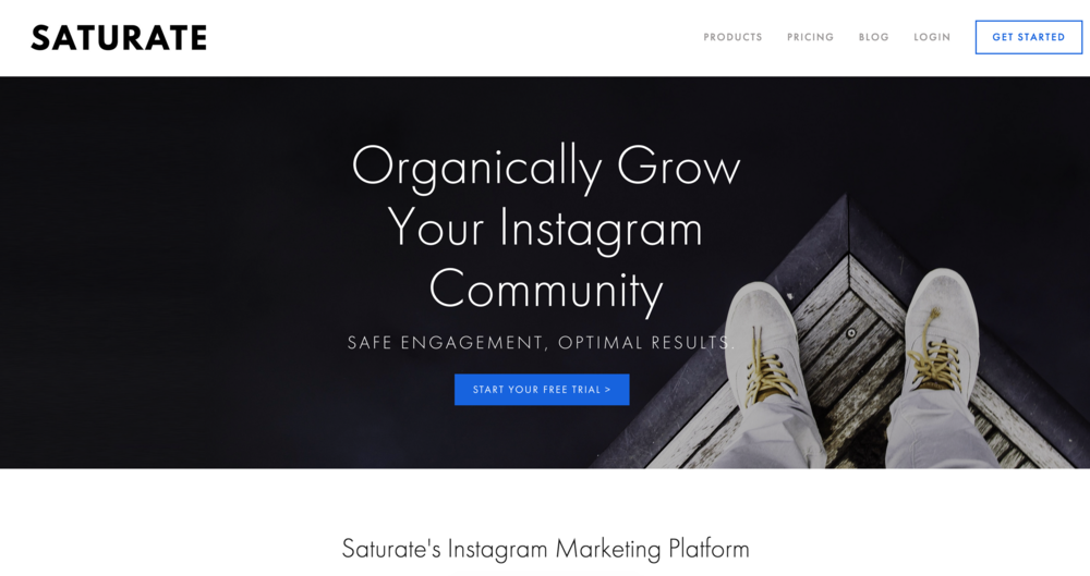 Saturate.io - An Instagram marketing tool that I've built over the past year with my wife. It organically grows your Instagram following and allows you to link photos to product detail pages so fans can shop your photos. Role: software developer, built entire logic system for engaging with the Instagram community via their API.