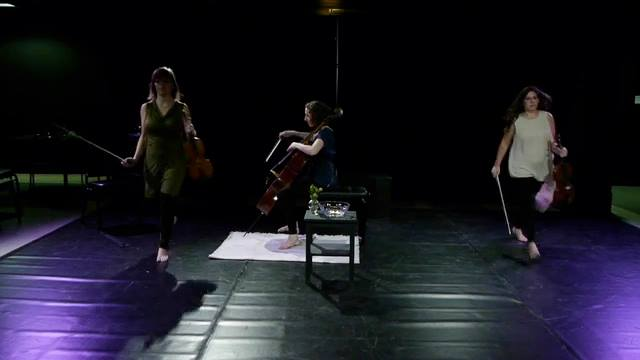 A scene from our first show, THREE-SIDED.
