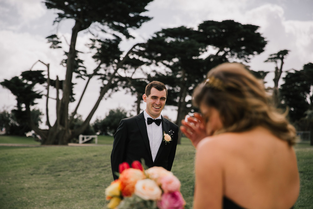 Carla & Matt's epic black tie wedding at Circa, The Prince, St Kilda.