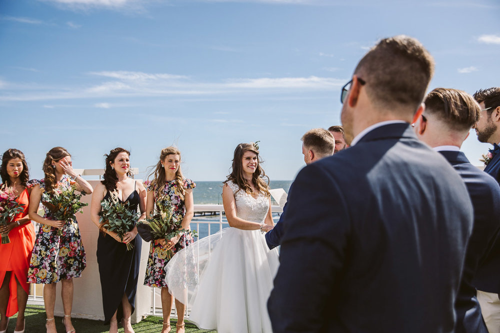 Lucie & Ed's fun and colourful St Kilda Yacht Club wedding by Fennel & Fox