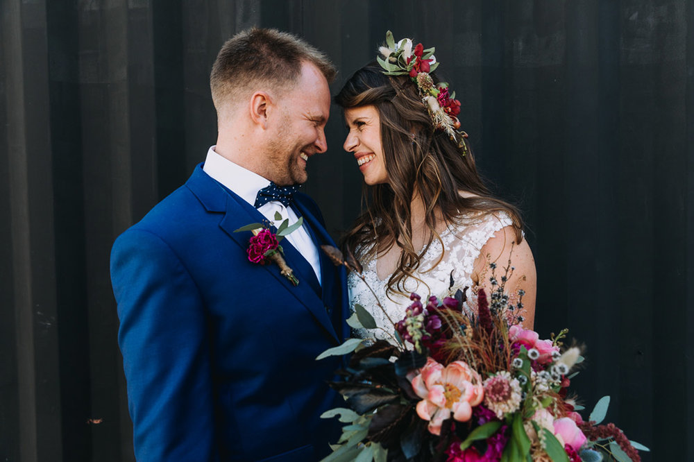 Lucie & Ed's fun and colourful St Kilda Yacht Club and Luna Park wedding by Fennel & Fox.