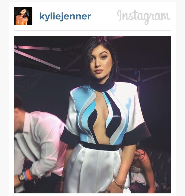 Peek of the jumpsuit via Kylie's Instagram