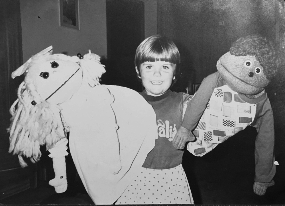 Little Leanne with Sammy and Jenny (Stars from her parents puppet show)