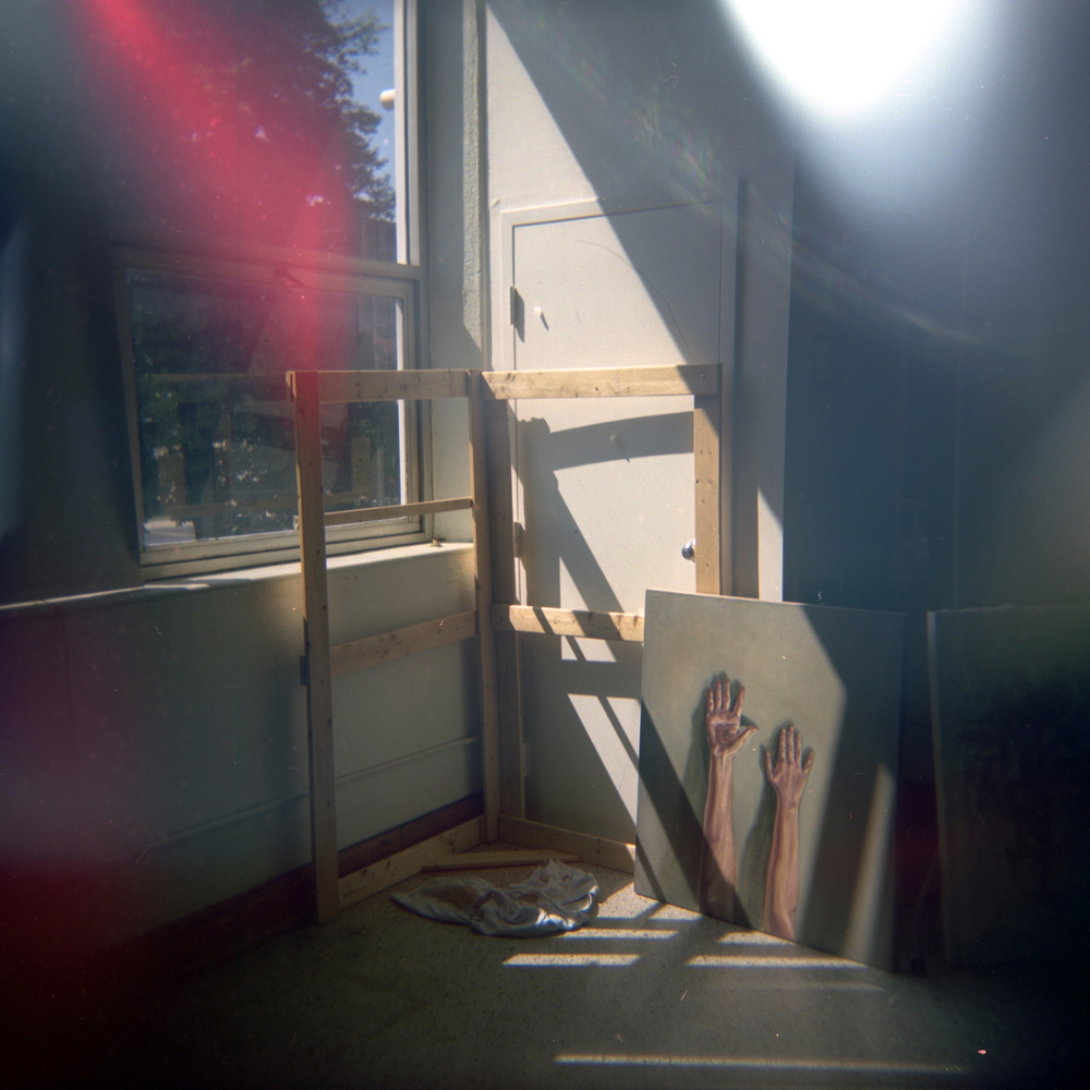 Capturing my studio space through a Holga.