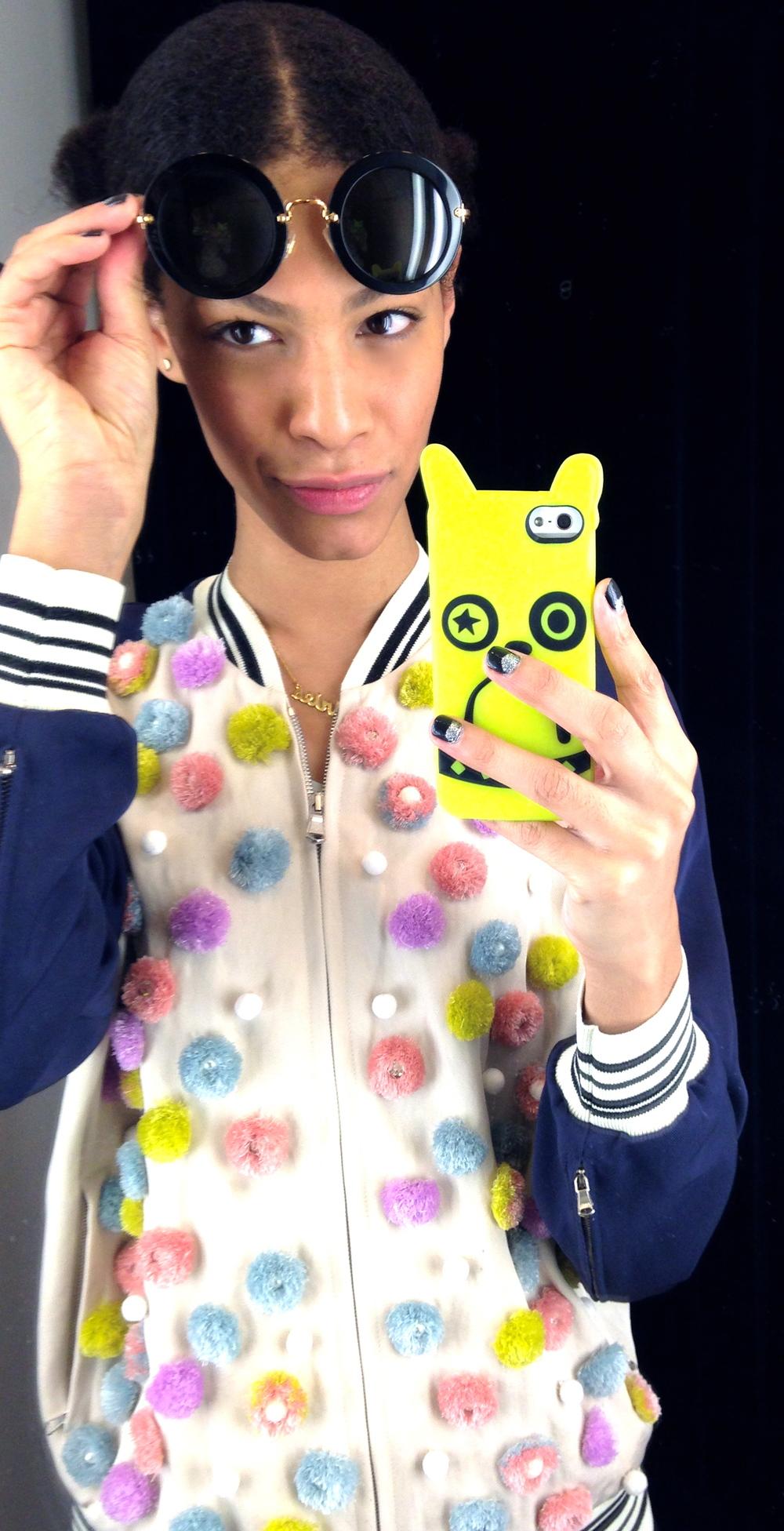 Phillip Lim pom pom jacket