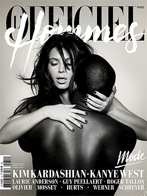 Kim Kardashian & Kayne West L Officiel Hommes