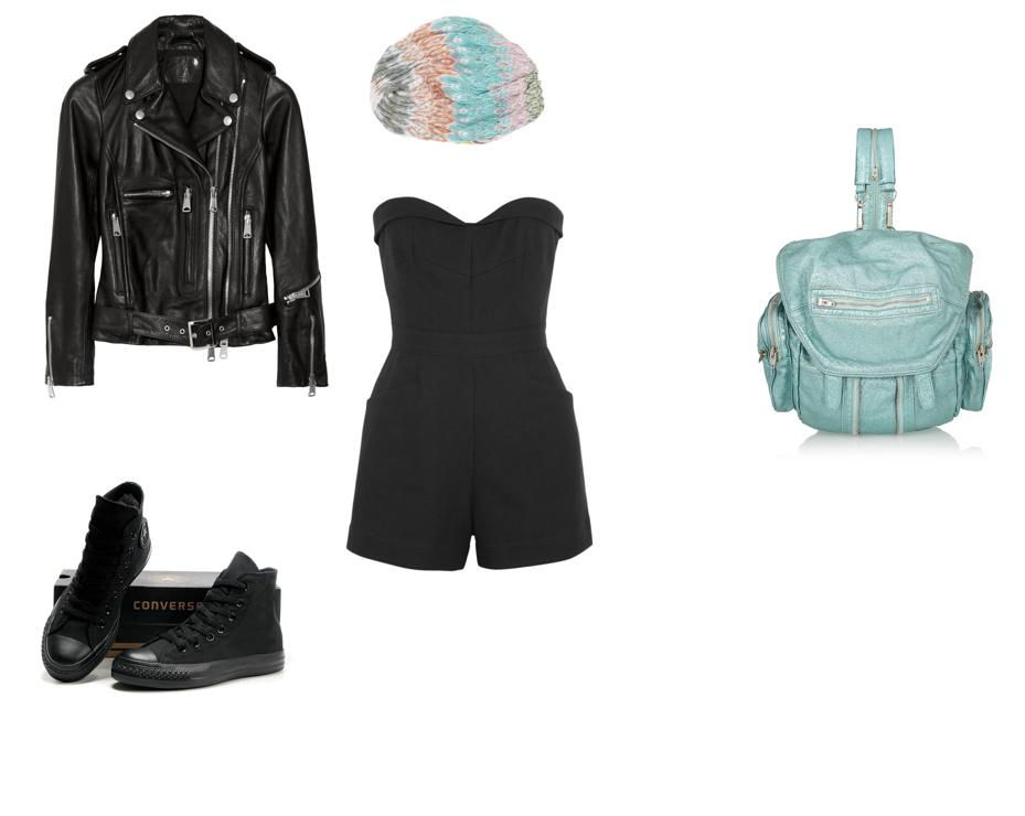 Wang Backpack.All Black Chucks.Missoni Turban