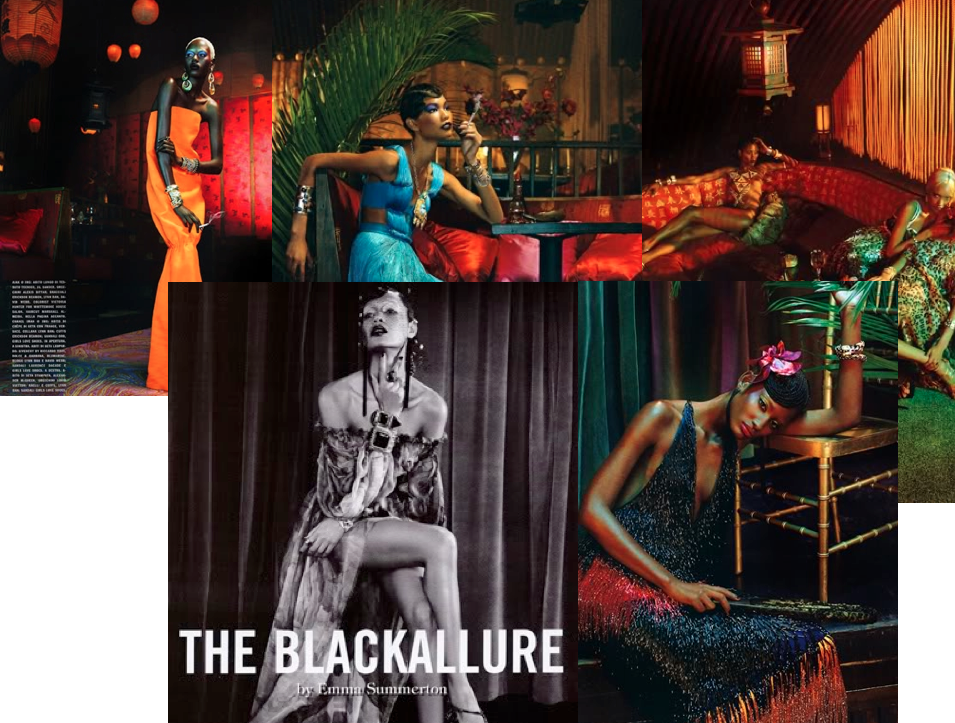 The Black Allure Italian Vogue