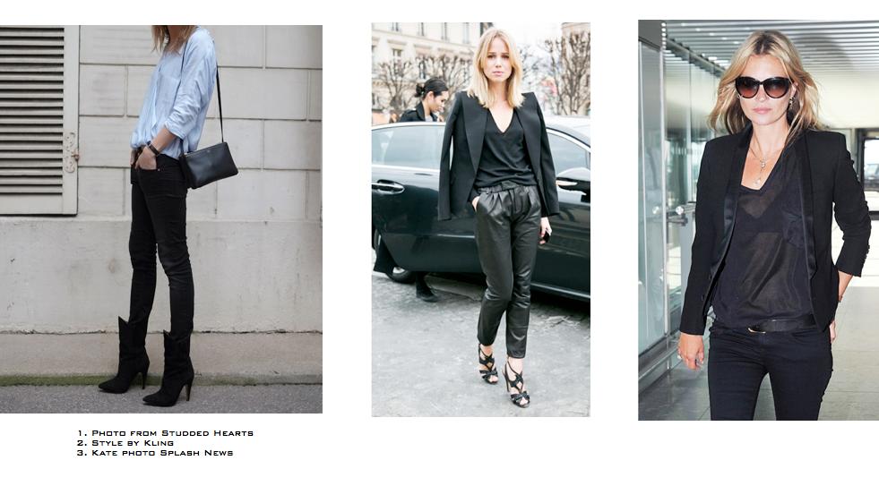 Minimal Street Style Looks , Kate Moss