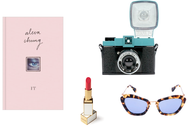 Miu Miu, Alexa Chung IT, Tom Ford lipstick, DianaF+,