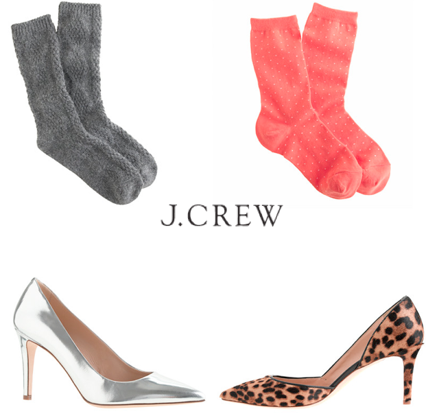 Jcrew heels and socks