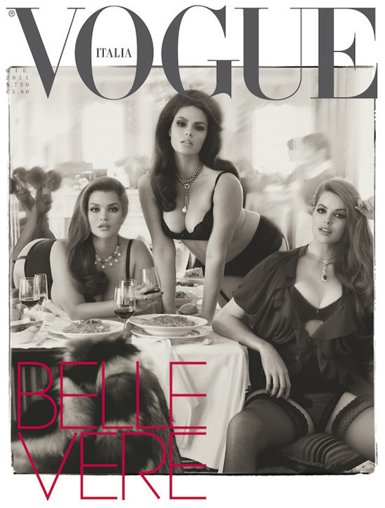 Belle Vere Italian Vogue plus size editorial