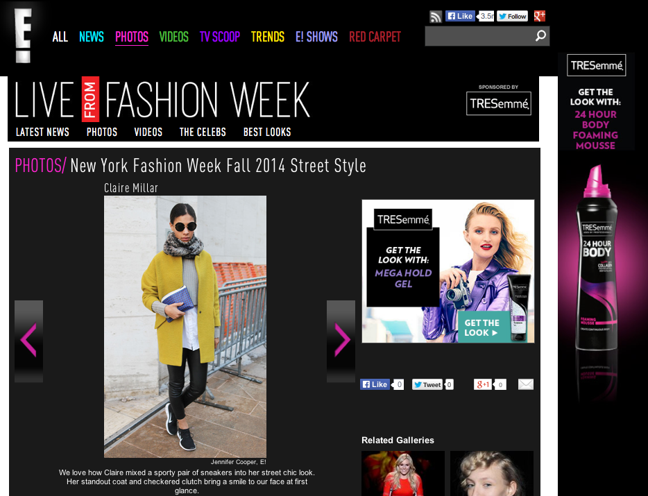 Claire Millar E News Street Style