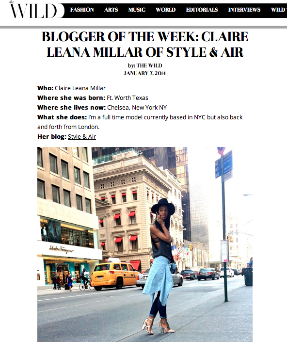 Blogger of the Week Wild Magazine