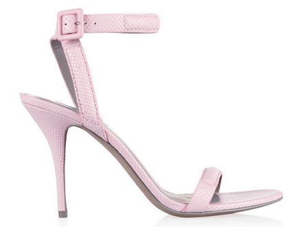 ALEXANDER WANG   Antonia snake-effect leather sandals  $515