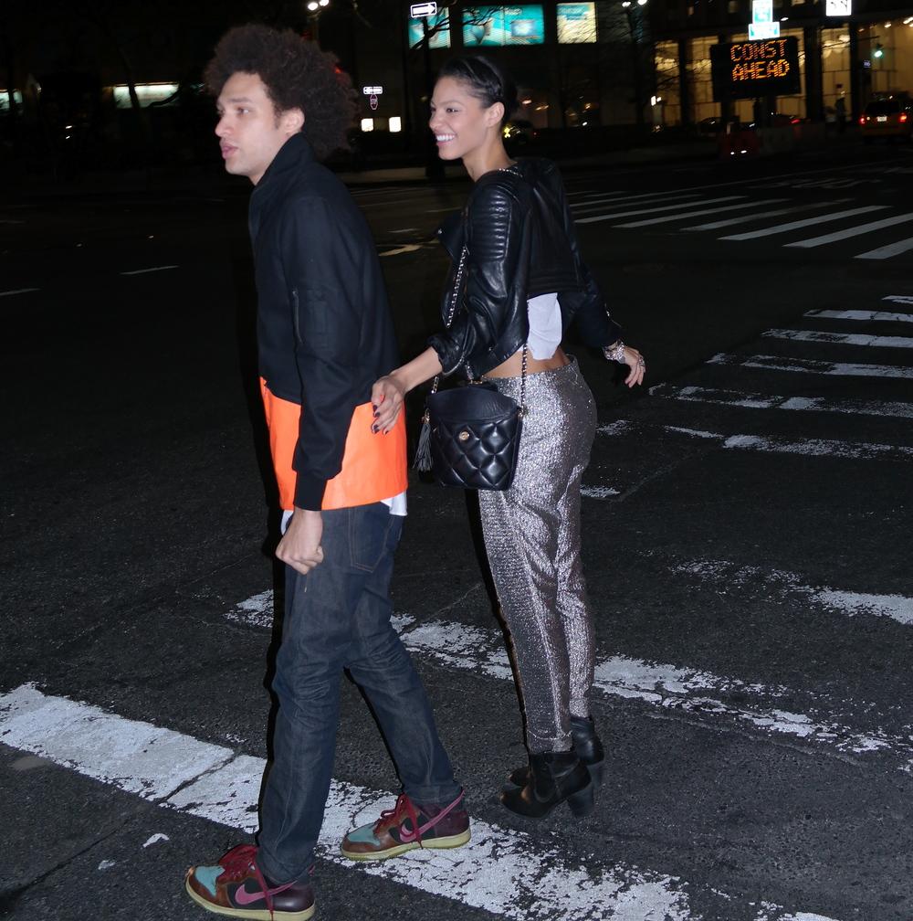 Pants Balenciaga, tee Wang, boots H&M,