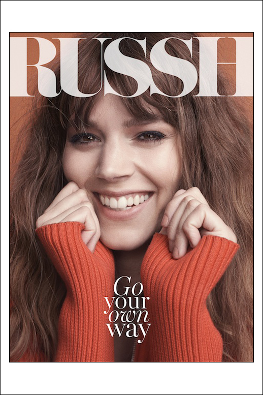 Freja Beha Erichsen's June/July cover for RUSSH magazine