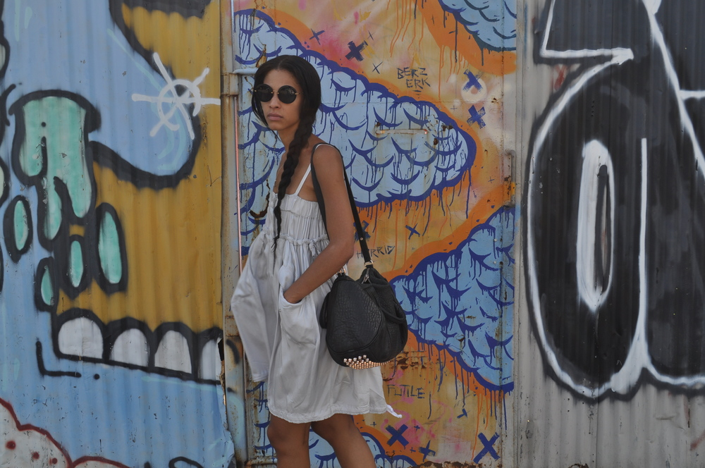 I wore Dries dress, Missoni Converse, Wang Rocco bag, Miu Miu Sunnies