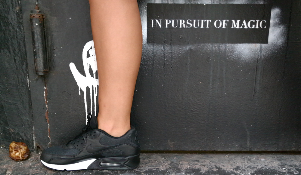 Nike Air Max via Net-a-porter.com and the humor of magic i.e. apple core trash.