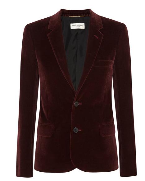 SAINT LAURENT Velvet blazer$2,890